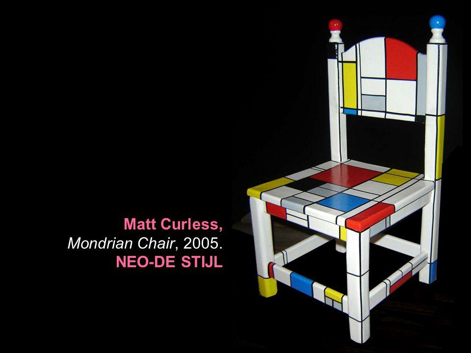 Matt Curless, Mondrian Chair, 2005. NEO-DE STIJL