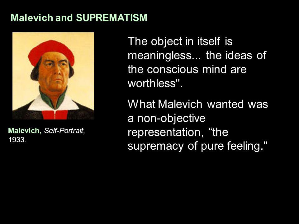 Malevich and SUPREMATISM Malevich, Self-Portrait, 1933.