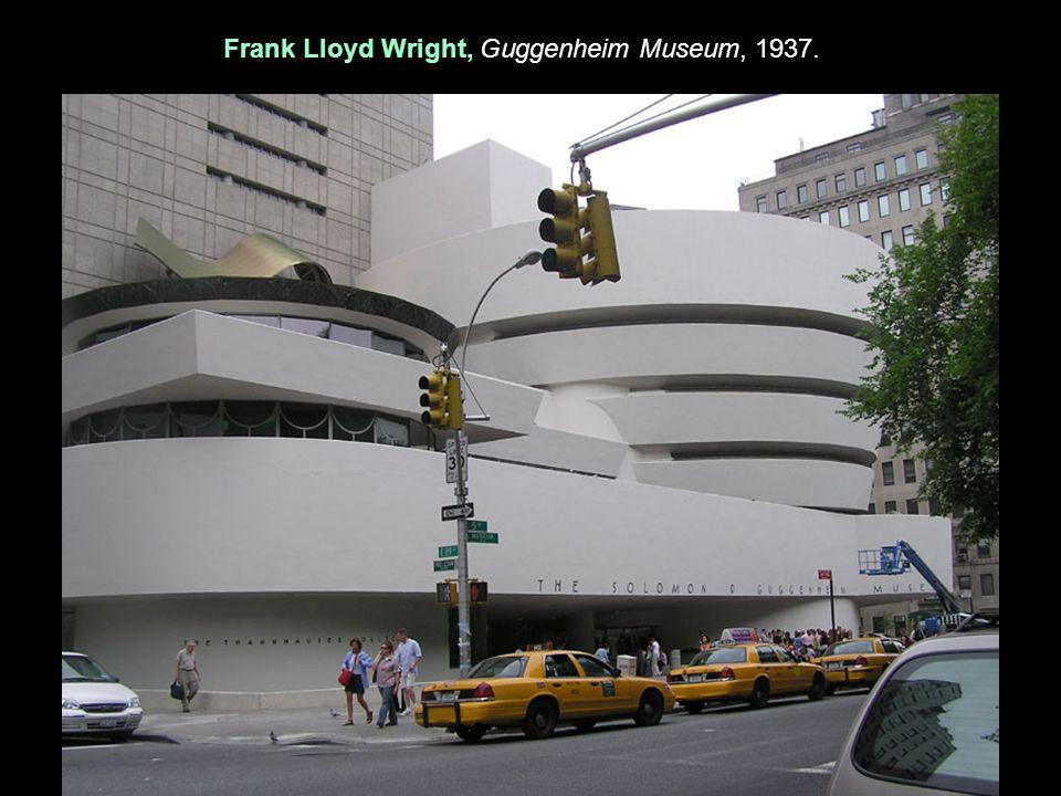 Frank Lloyd Wright, Guggenheim Museum, 1937.