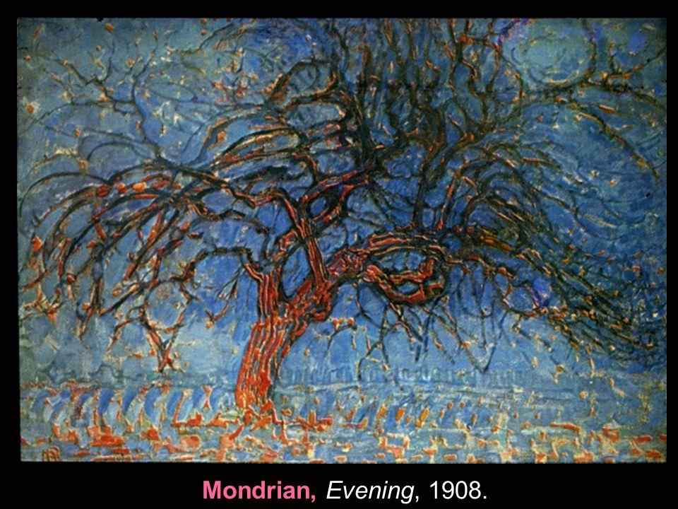 Mondrian, Evening, 1908.