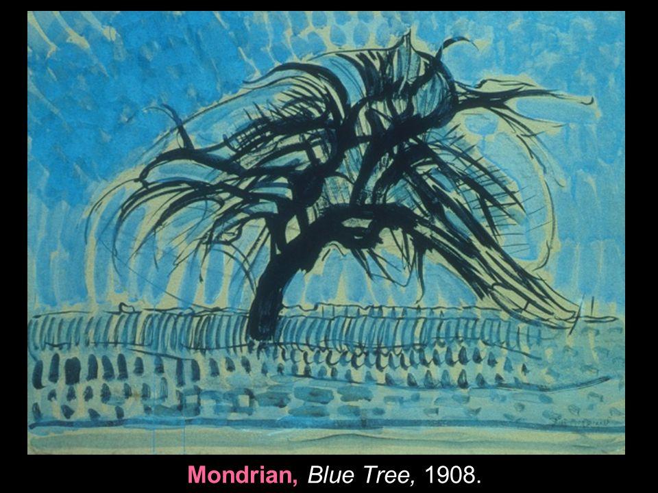 Mondrian, Blue Tree, 1908.