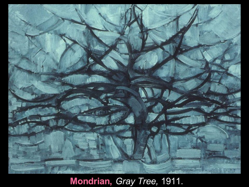 Mondrian, Gray Tree, 1911.
