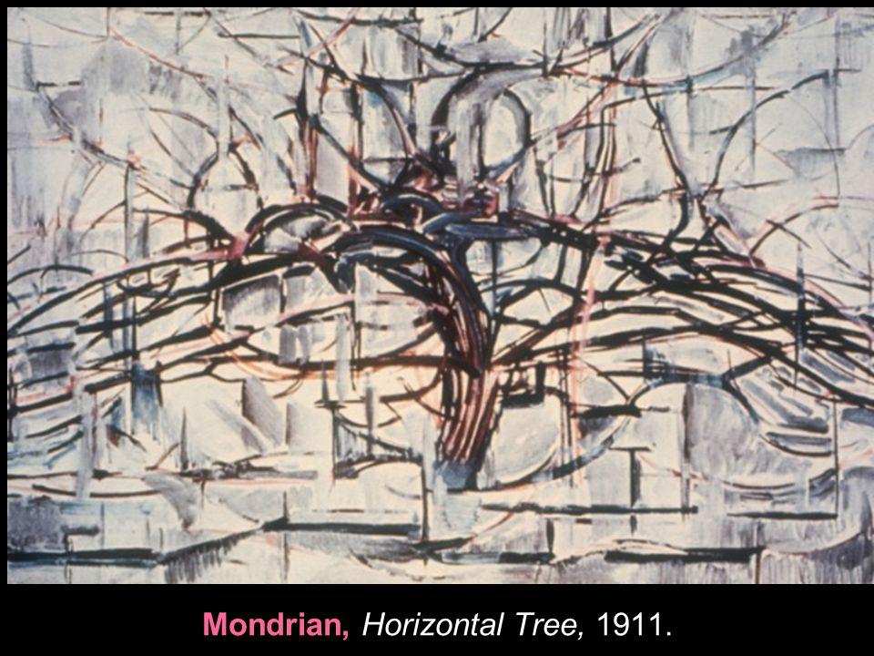 Mondrian, Horizontal Tree, 1911.