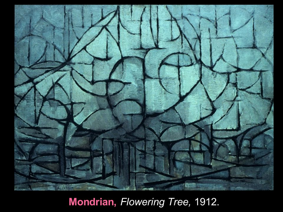 Mondrian, Flowering Tree, 1912.