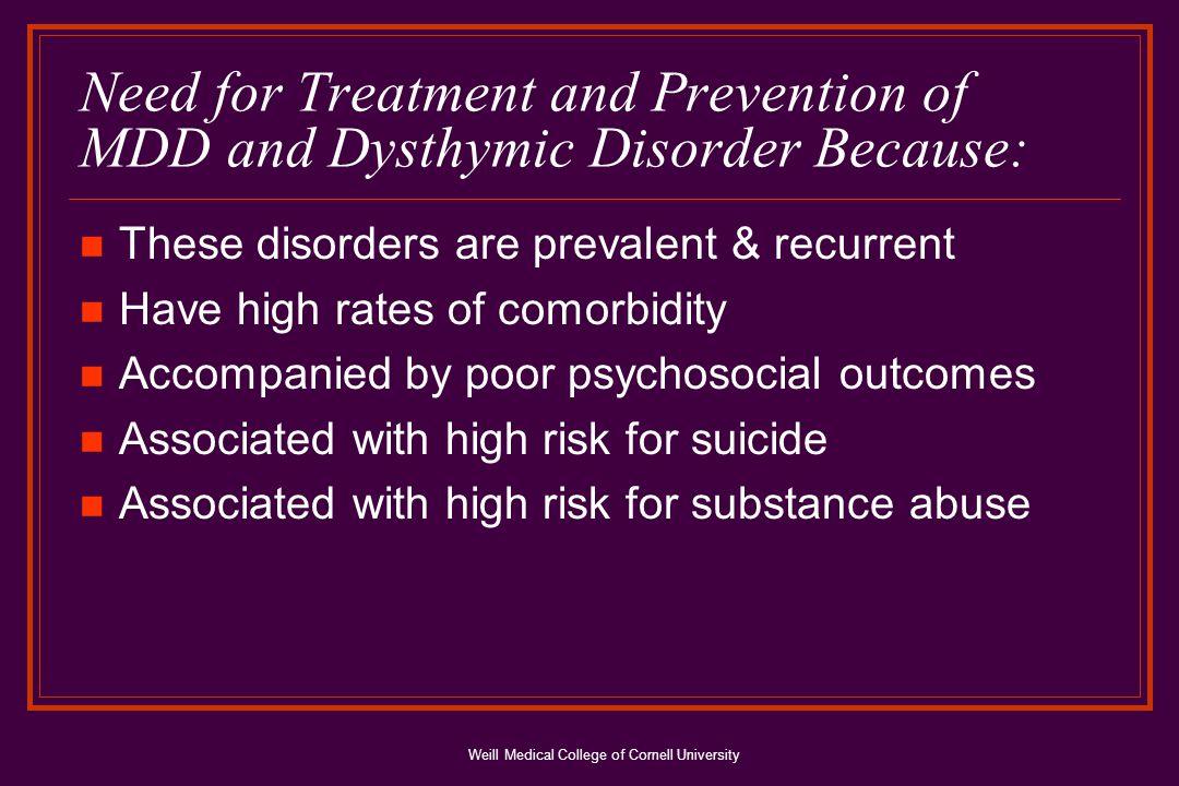 Weill Medical College of Cornell University Prospective Studies: MDD Risk Factor for Suicidal Tendencies in Children/Adolesc.