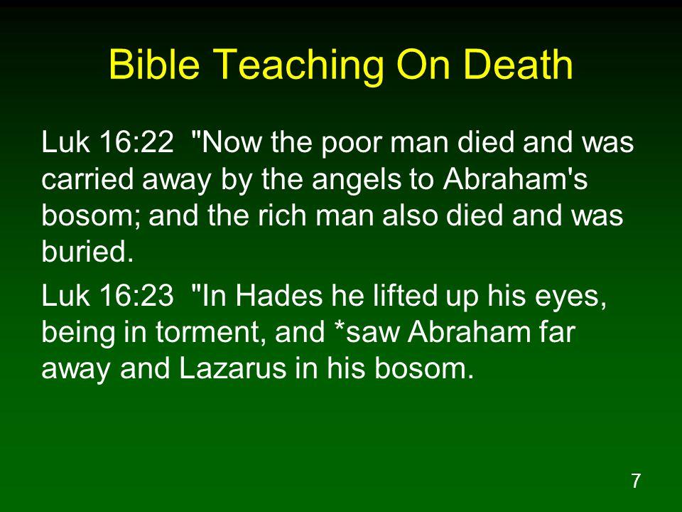 7 Bible Teaching On Death Luk 16:22