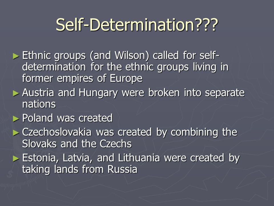 Self-Determination .