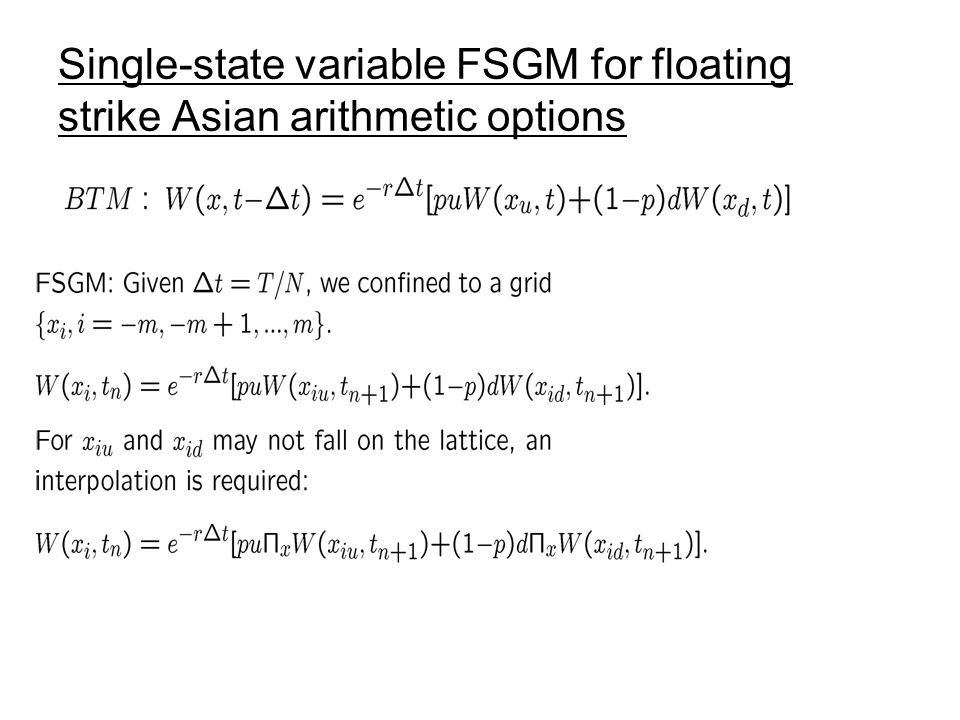 Single-state variable FSGM for floating strike Asian arithmetic options