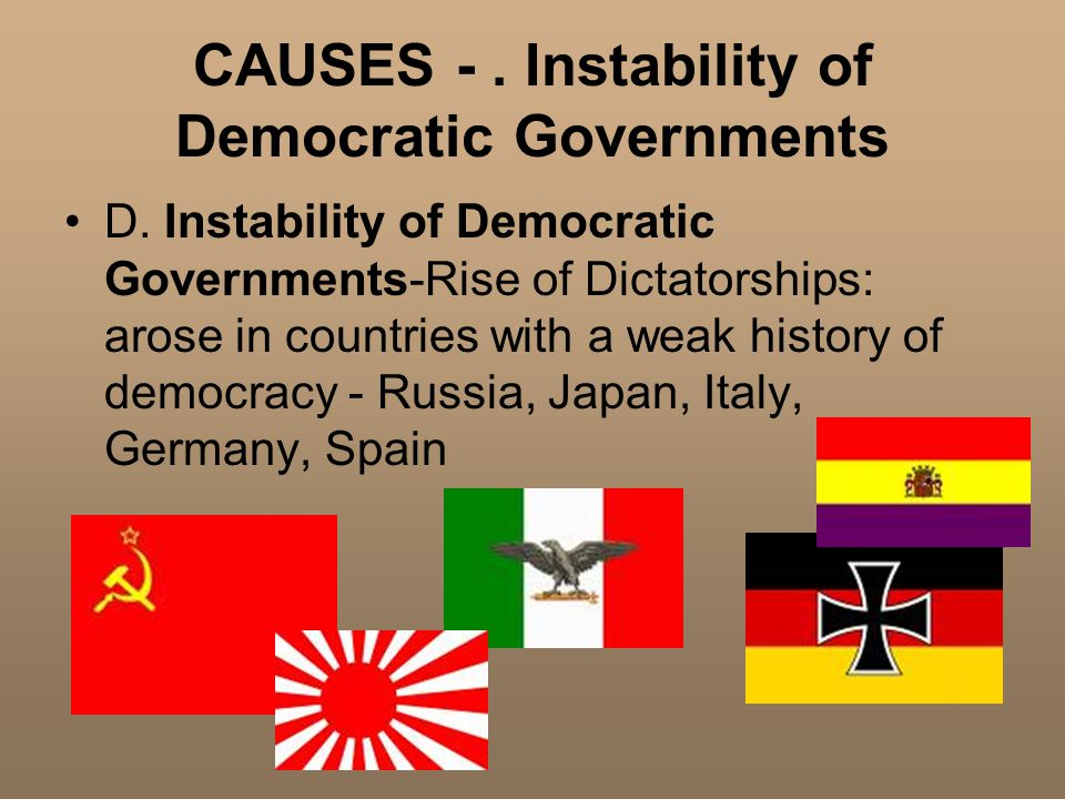 CAUSES -. Instability of Democratic Governments D.