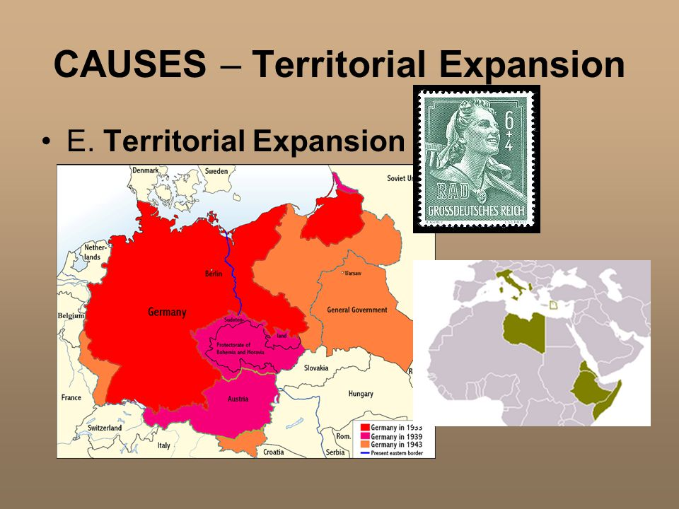 CAUSES – Territorial Expansion E. Territorial Expansion