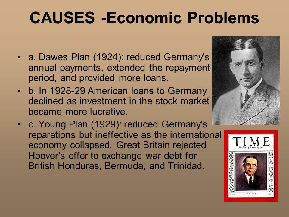 CAUSES -Economic Problems a.