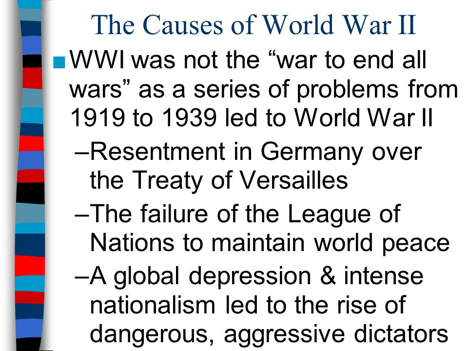 Closure Activity ■ On your map, label the following: – The 3 main Axis Powers – The territories under the control of the Axis Powers by 1942 ■ On your timeline, identify the 5 most important events that contributed to World War 2; For each event, provide a brief summary & an image