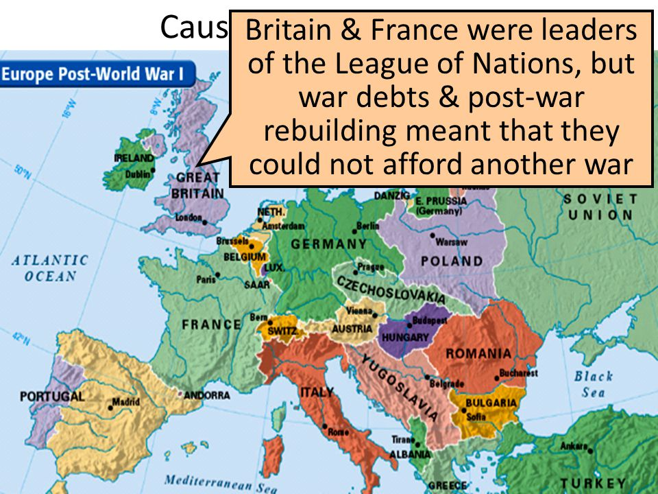 The Causes of World War I European nations were dependent upon U.S.