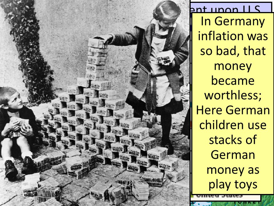 The Causes of World War I European nations were dependent upon U.S. investment to help rebuild, …but the Great Depression led to a world-wide depressi