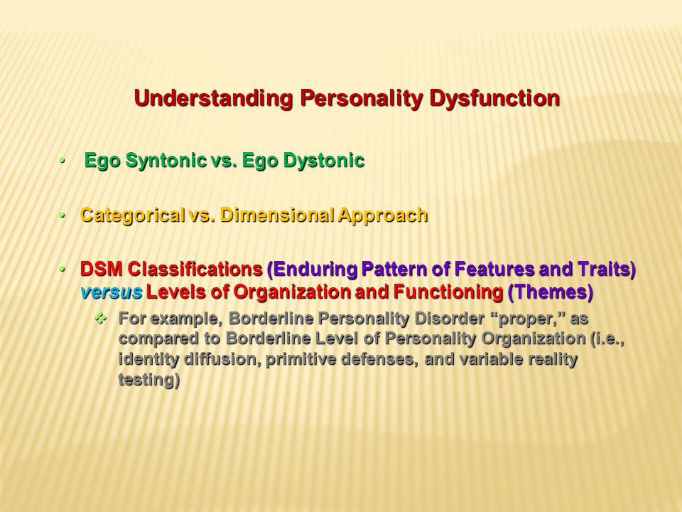 Understanding Personality Dysfunction Ego Syntonic vs.