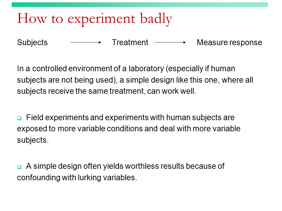 3 Principles of experimental design 1.