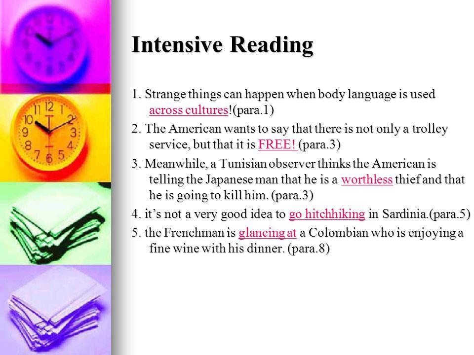 Intensive Reading 1.