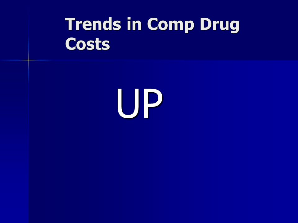 Trends in Comp Drug Costs UP