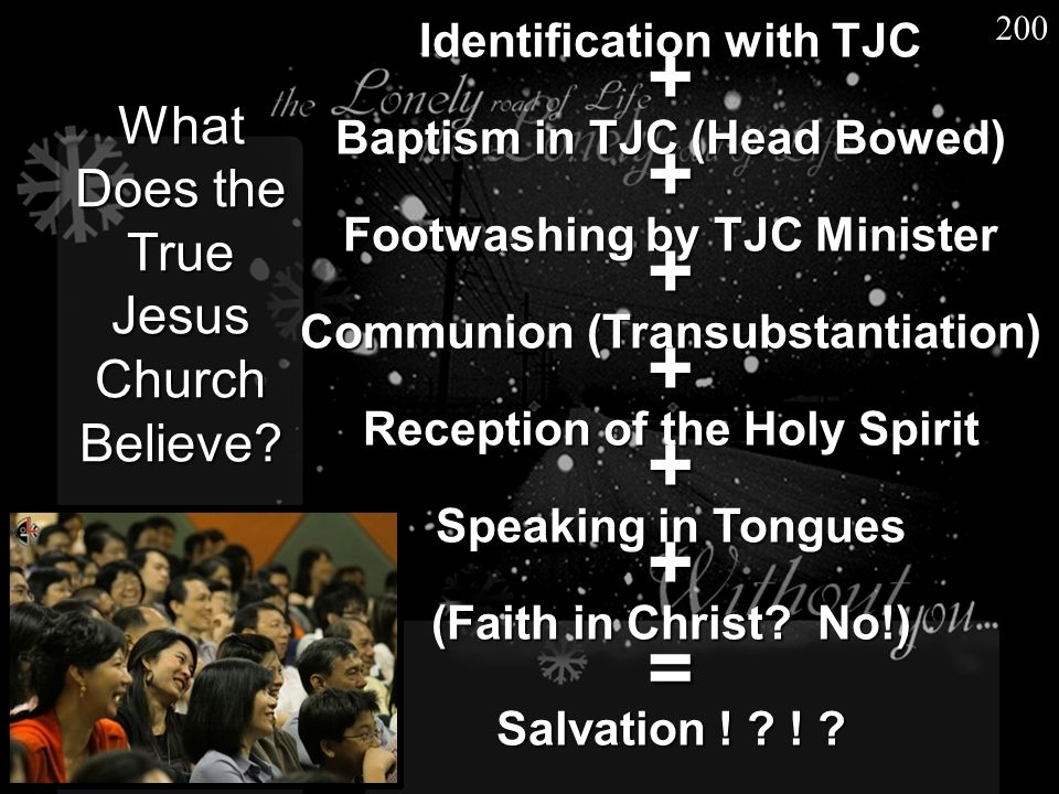What Does the True Jesus Church Believe? Identification with TJC + Baptism in TJC (Head Bowed) + Footwashing by TJC Minister + Communion (Transubstant