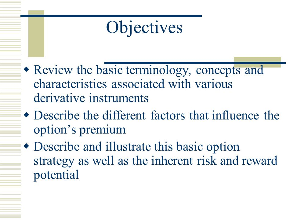 Presentation Summary  Introduction  Options  Covered Call Writing  Question Period