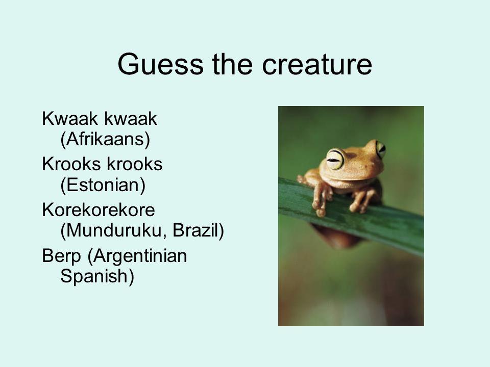 Guess the creature Ngeong (Indonesian) Ngiau (Malay) Tlatzomia (Nahuatl, Mexico)