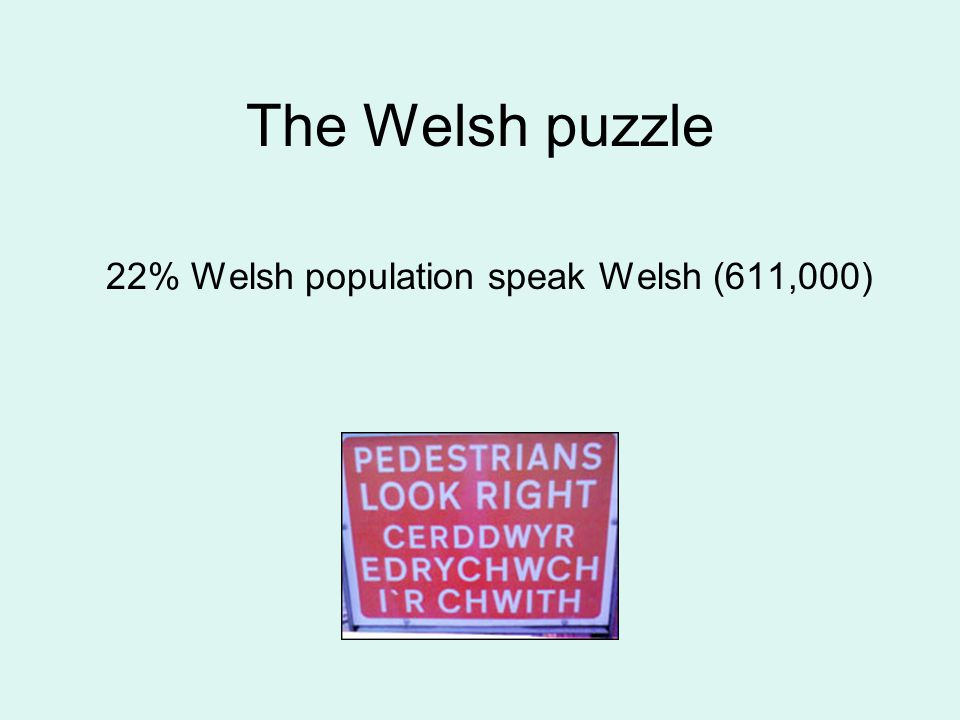 The Welsh puzzle