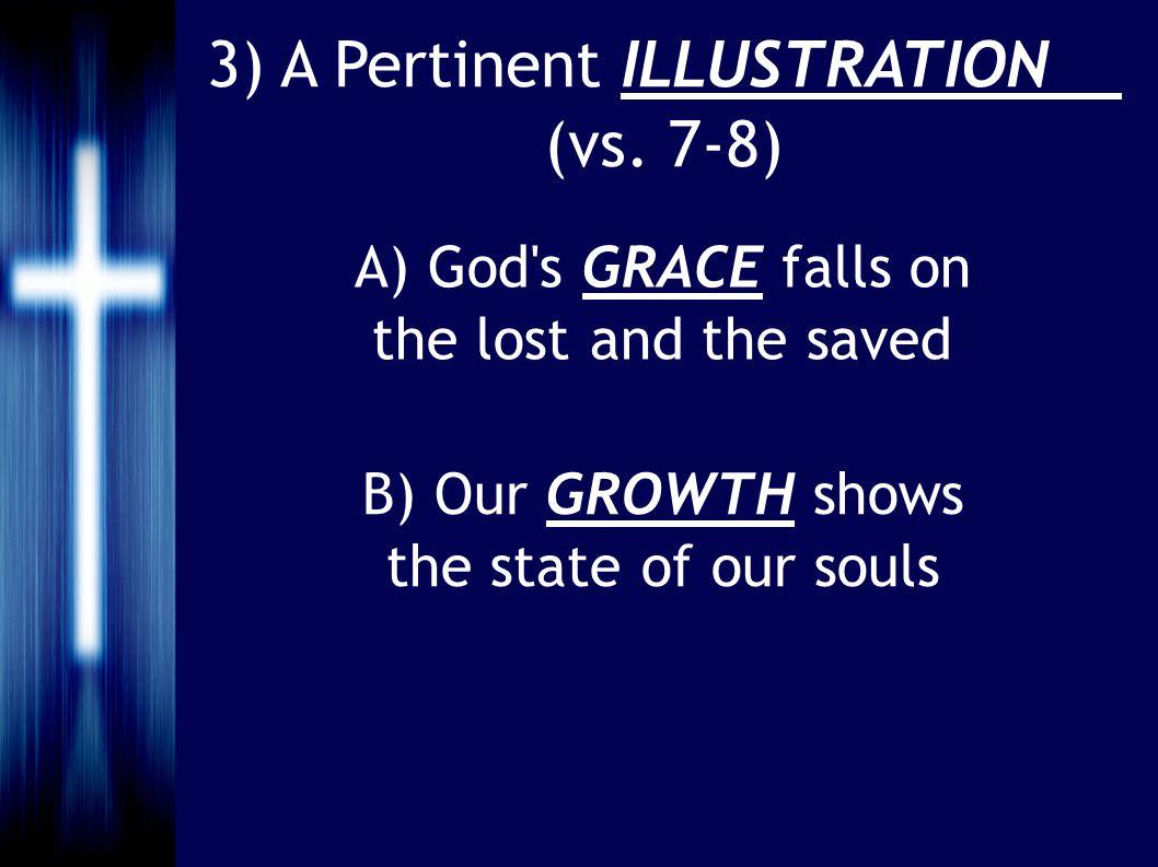 3) A Pertinent ILLUSTRATION (vs.