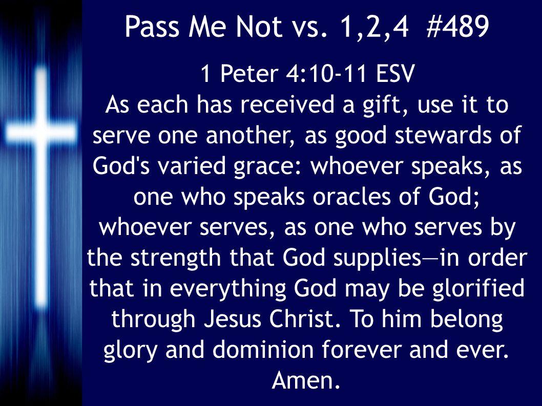 Pass Me Not vs.