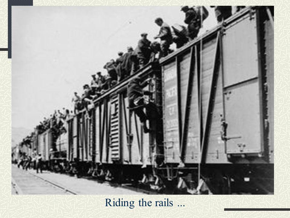 Riding the rails...
