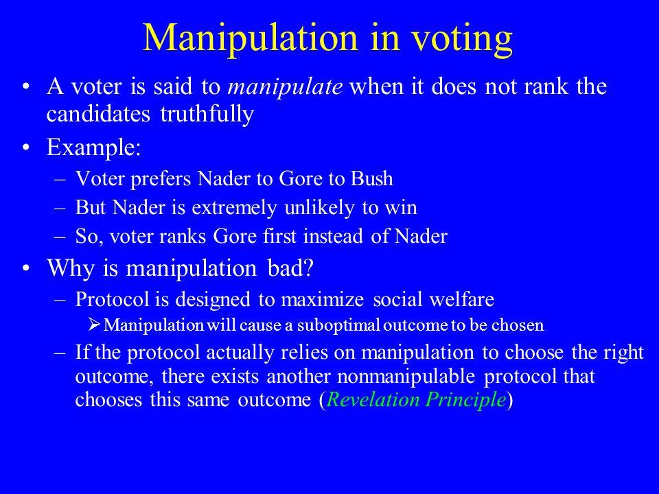 Overview Introduction Problem specification & assumptions Deterministic voting protocols Randomized voting protocols Uncertainty about others' votes Conclusion