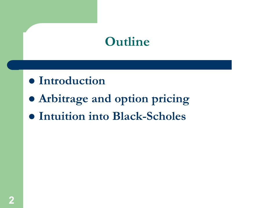 3 Introduction Option pricing developments are among the most important in the field of finance during the last 30 years The backbone of option pricing is the Black- Scholes model