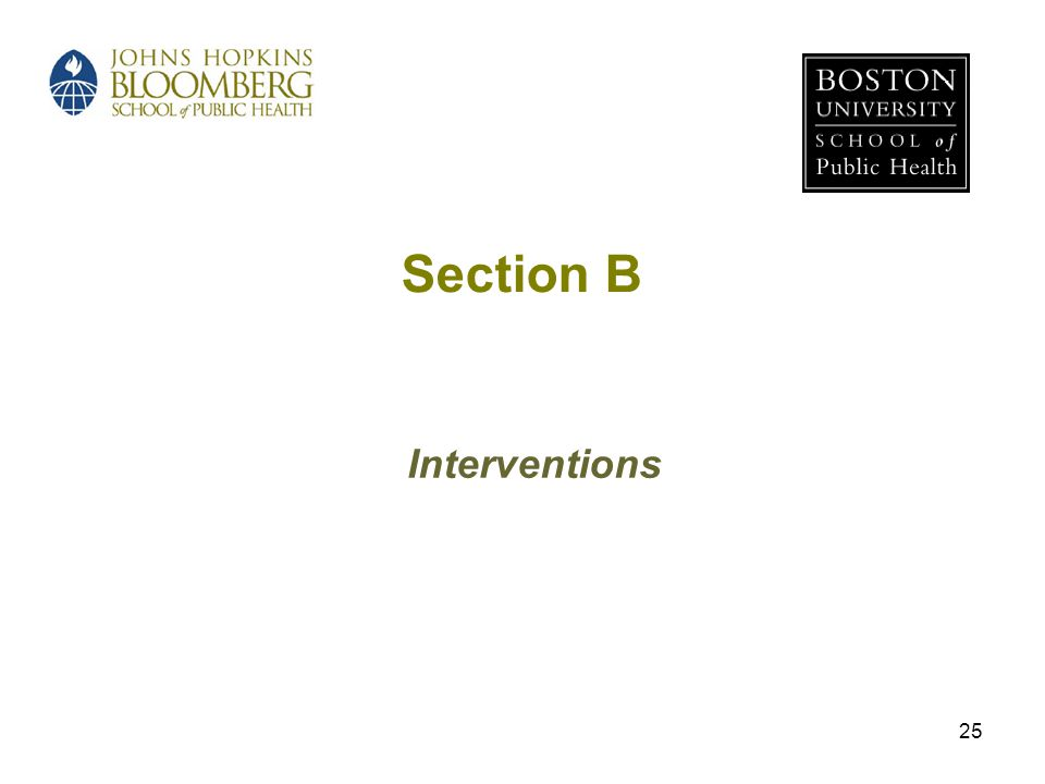 25 Section B Interventions