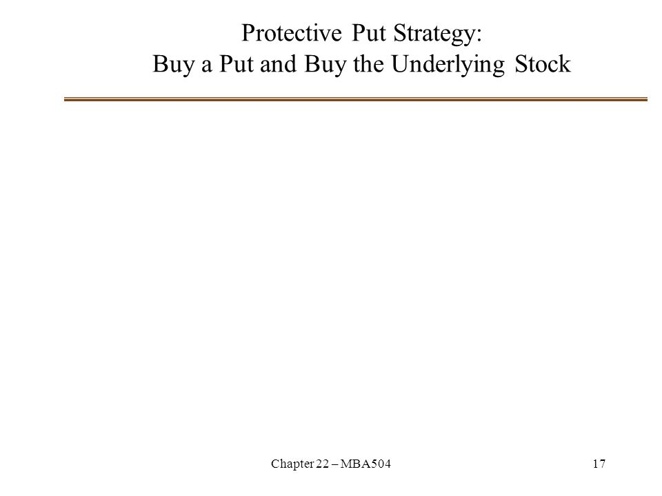 Chapter 22 – MBA50417 Protective Put Strategy: Buy a Put and Buy the Underlying Stock