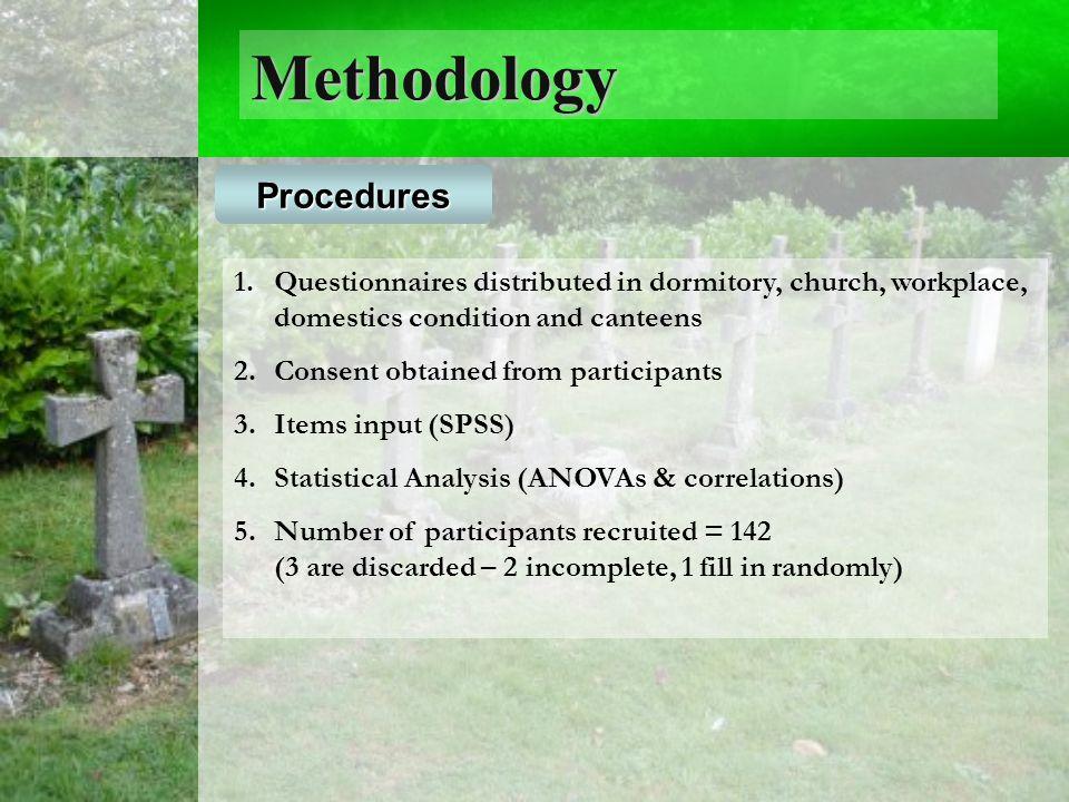 Methodology Procedures 1.