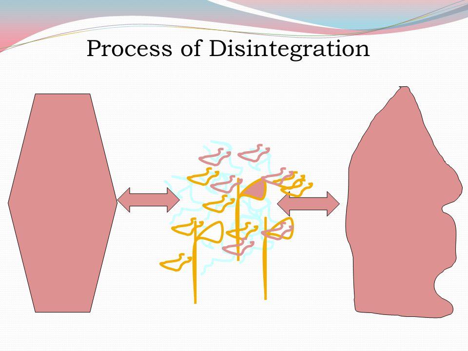 Process of Disintegration