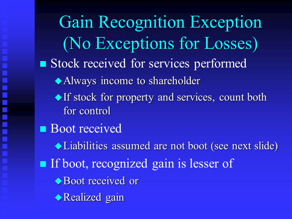 Tax Avoidance Rules n n 5-year character rule for u Inventory u Capital loss property n n Prevents partnership from converting use of property to avoid u Inventory--ordinary income treatment u Capital loss--limitations on loss deductions