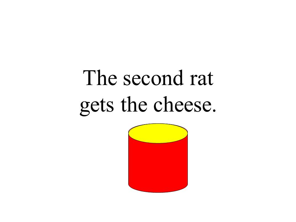 The second rat gets the cheese.
