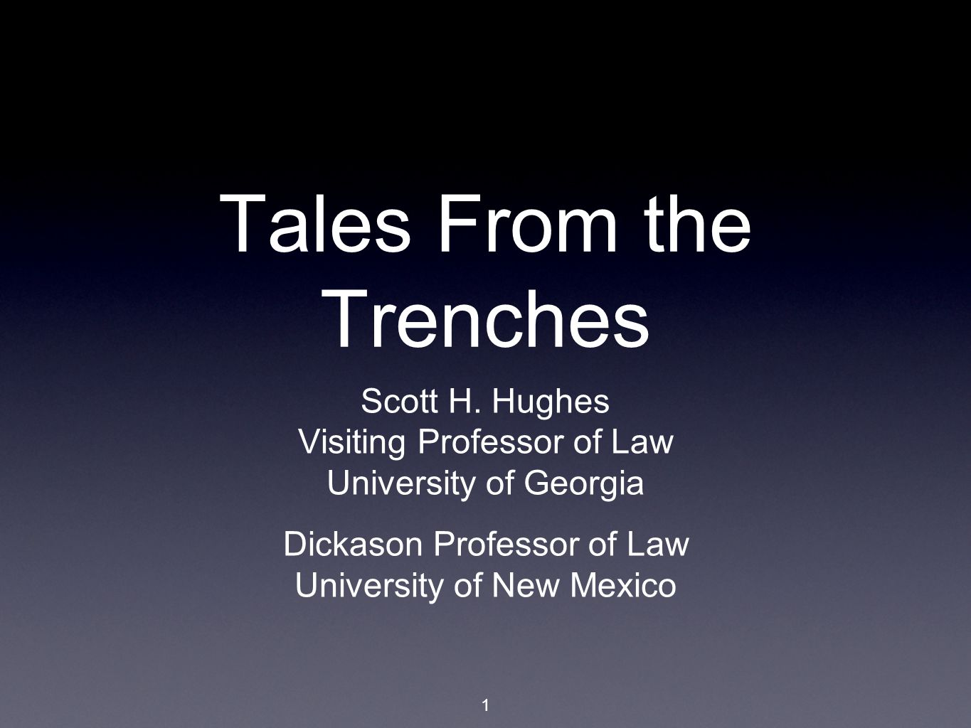 1 Tales From the Trenches Scott H.