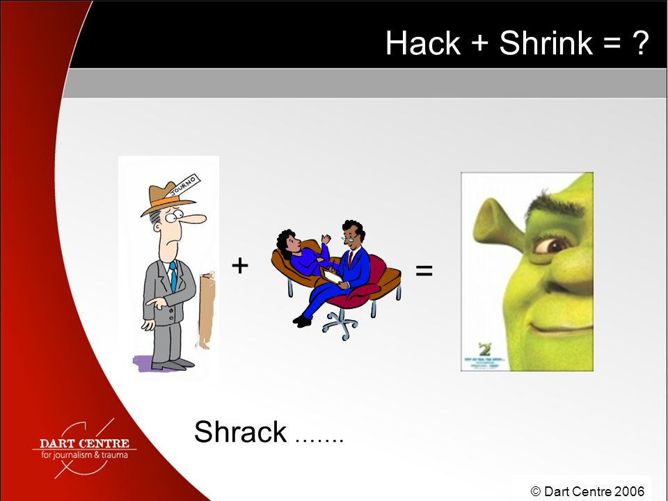 © Dart Centre 2006 Hack + Shrink = ? = + Shrack …….