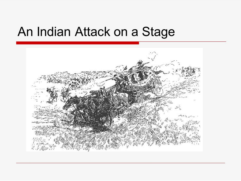 An Indian Attack on a Stage