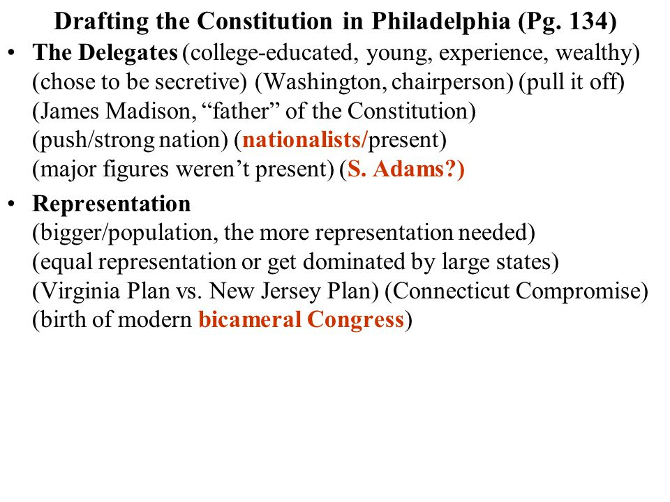 Drafting the Constitution in Philadelphia (Pg.