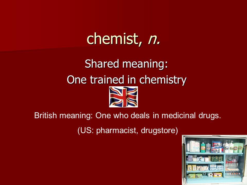 chemist, n.
