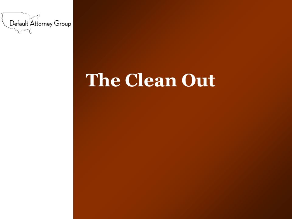 The Clean Out