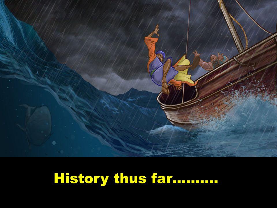 History thus far……….