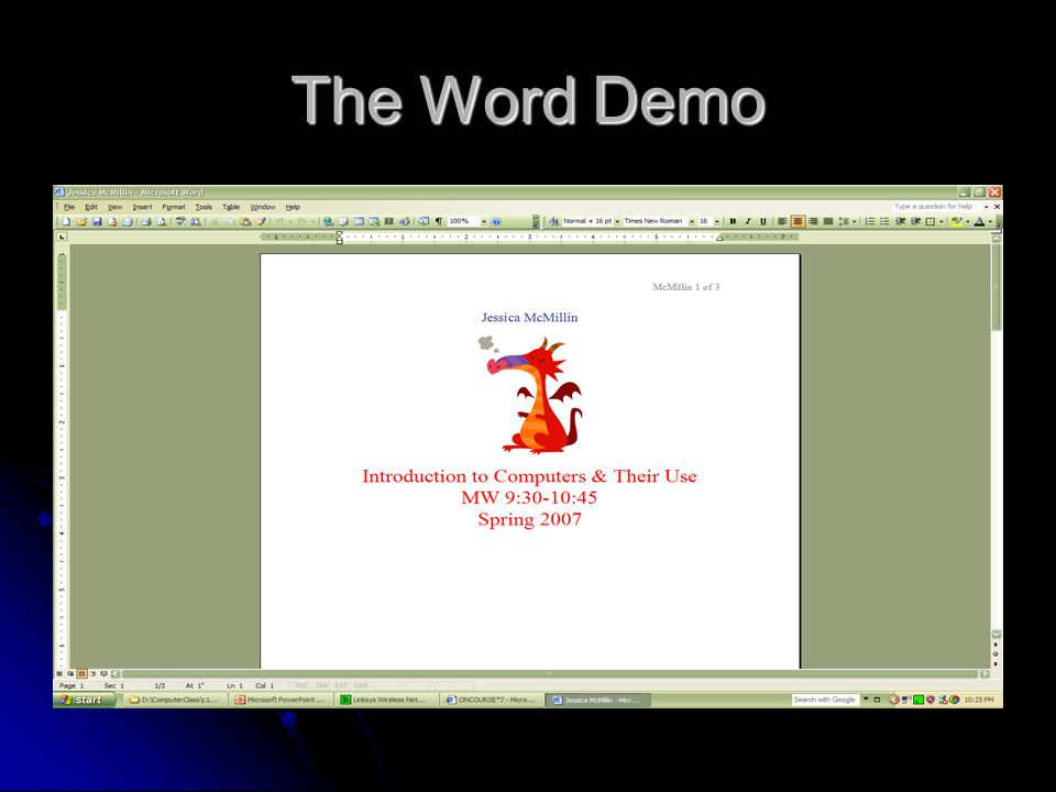 The Word Demo