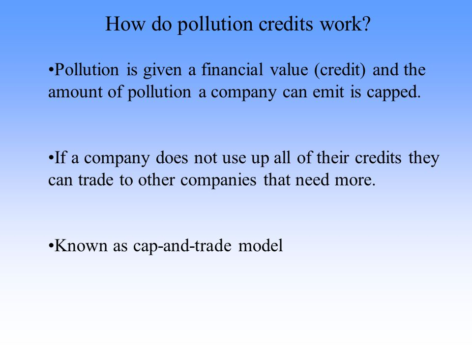 How do pollution credits work.