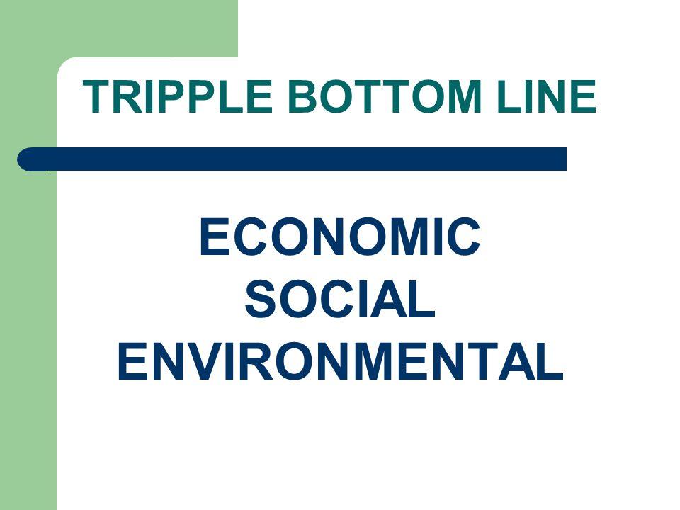 TRIPPLE BOTTOM LINE ECONOMIC SOCIAL ENVIRONMENTAL