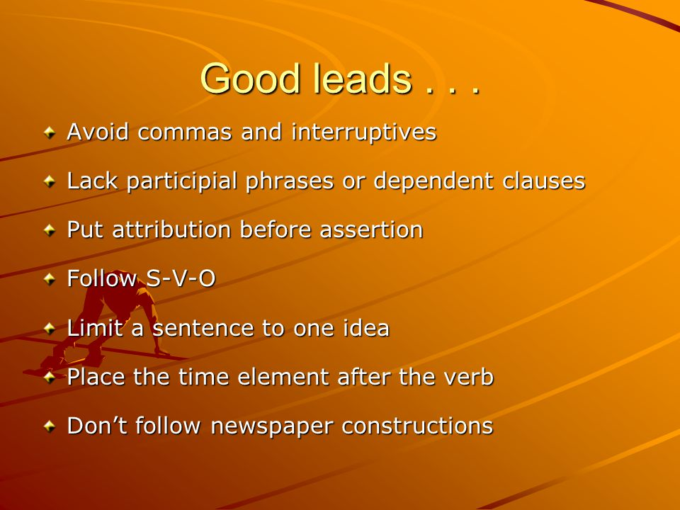 Good leads...