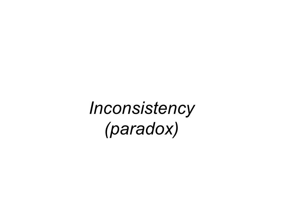 Inconsistency (paradox)