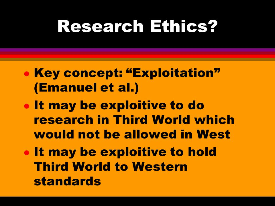 Research Ethics.